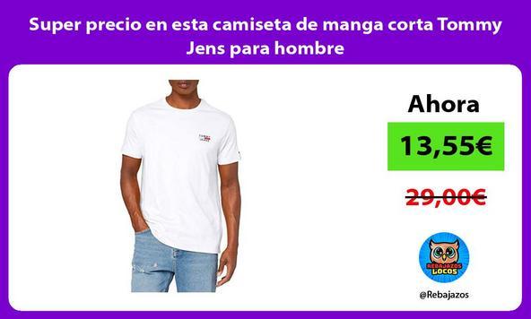 Super precio en esta camiseta de manga corta Tommy Jens para hombre