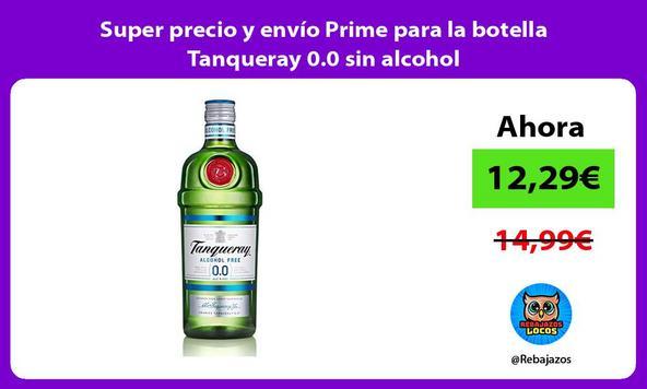 Super precio y envío Prime para la botella Tanqueray 0.0 sin alcohol