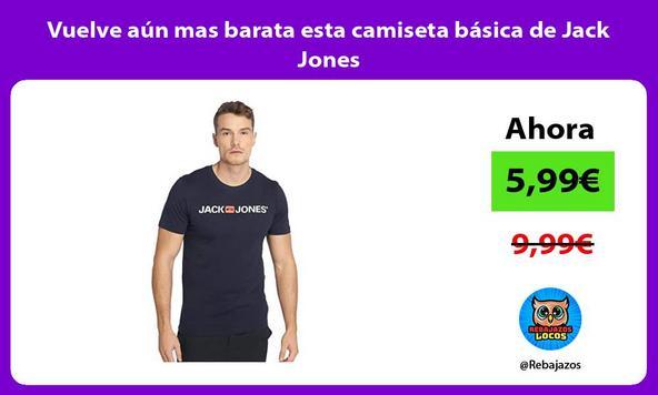 Vuelve aún mas barata esta camiseta básica de Jack Jones