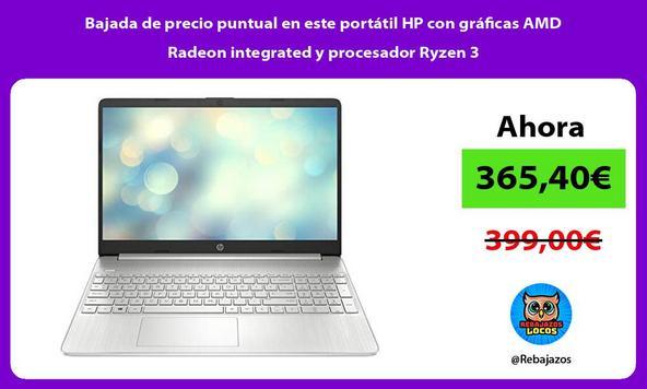 Bajada de precio puntual en este portátil HP con gráficas AMD Radeon integrated y procesador Ryzen 3