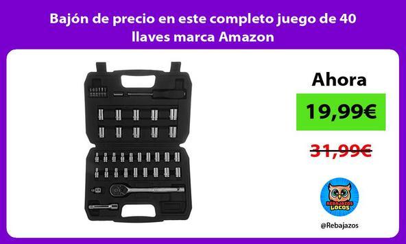 Bajón de precio en este completo juego de 40 llaves marca Amazon