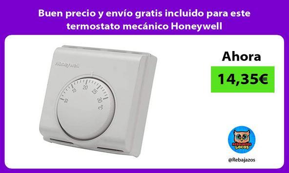 Buen precio y envío gratis incluido para este termostato mecánico Honeywell
