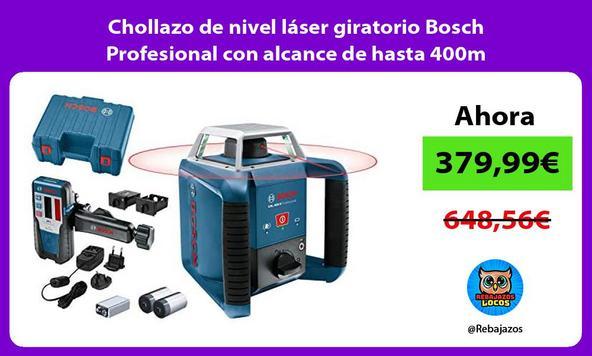 Chollazo de nivel láser giratorio Bosch Profesional con alcance de hasta 400m