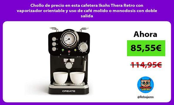 Chollo de precio en esta cafetera Ikohs Thera Retro con vaporizador orientable y uso de café molido o monodosis con doble salida