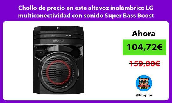 Chollo de precio en este altavoz inalámbrico LG multiconectividad con sonido Super Bass Boost