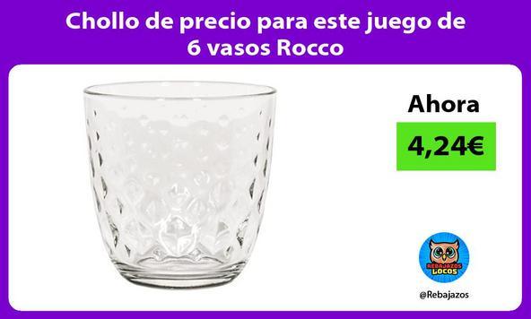 Chollo de precio para este juego de 6 vasos Rocco