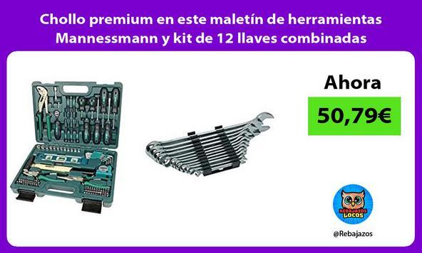 Chollo premium en este maletín de herramientas Mannessmann y kit de 12 llaves combinadas