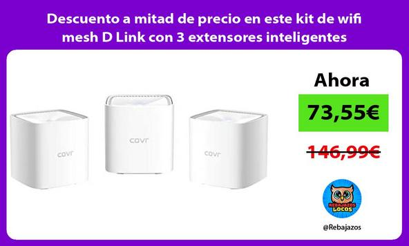 Descuento a mitad de precio en este kit de wifi mesh D Link con 3 extensores inteligentes