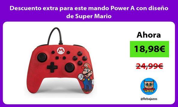 Descuento extra para este mando Power A con diseño de Super Mario