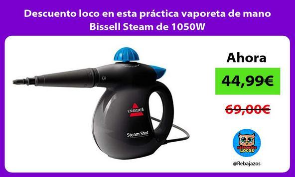 Descuento loco en esta práctica vaporeta de mano Bissell Steam de 1050W