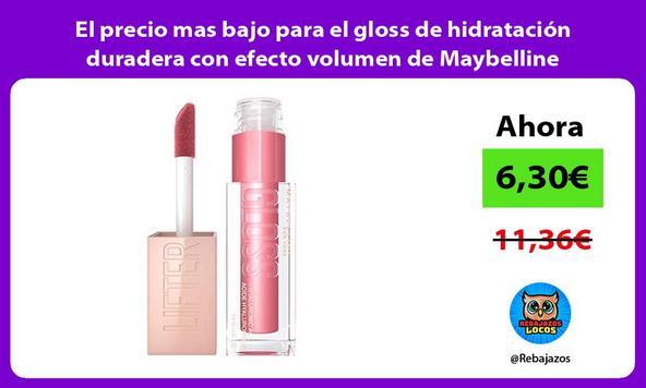 El precio mas bajo para el gloss de hidratación duradera con efecto volumen de Maybelline
