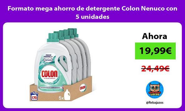 Formato mega ahorro de detergente Colon Nenuco con 5 unidades