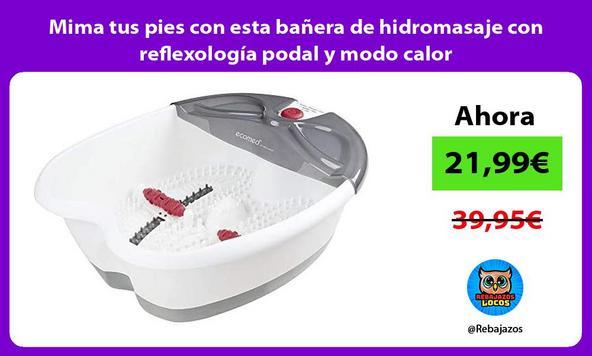 Mima tus pies con esta bañera de hidromasaje con reflexología podal y modo calor
