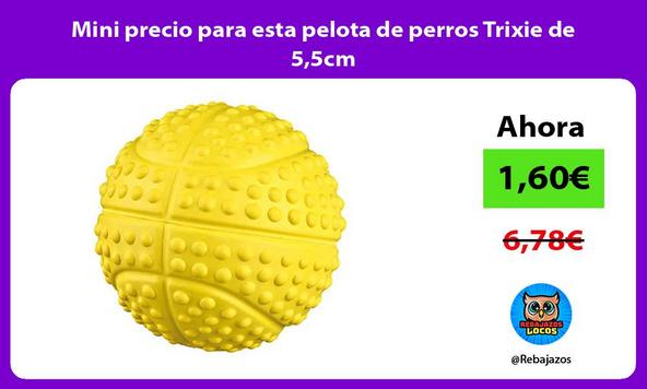 Mini precio para esta pelota de perros Trixie de 5,5cm