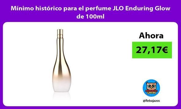 Mínimo histórico para el perfume JLO Enduring Glow de 100ml