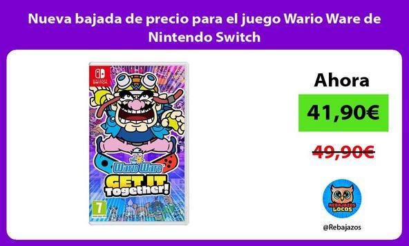 Nueva bajada de precio para el juego Wario Ware de Nintendo Switch