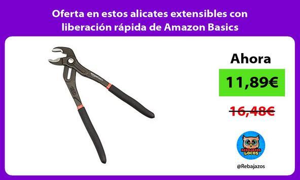 Oferta en estos alicates extensibles con liberación rápida de Amazon Basics