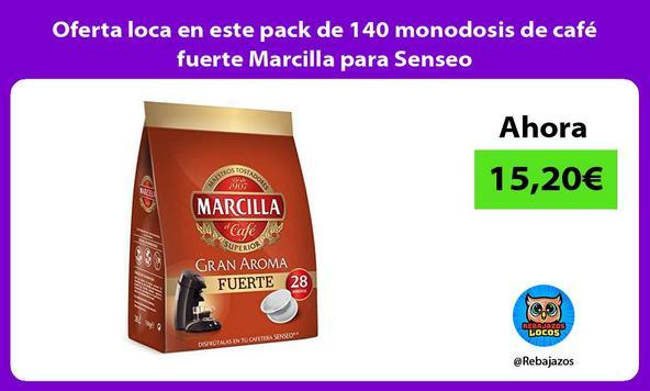 Oferta loca en este pack de 140 monodosis de café fuerte Marcilla para Senseo