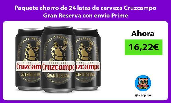 Paquete ahorro de 24 latas de cerveza Cruzcampo Gran Reserva con envío Prime