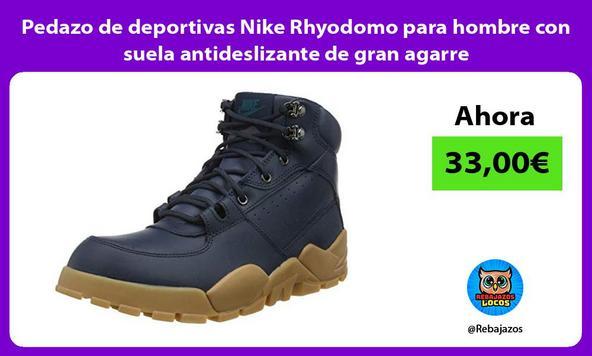 Pedazo de deportivas Nike Rhyodomo para hombre con suela antideslizante de gran agarre