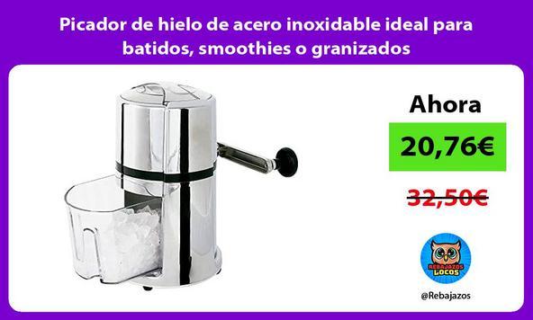 Picador de hielo de acero inoxidable ideal para batidos, smoothies o granizados