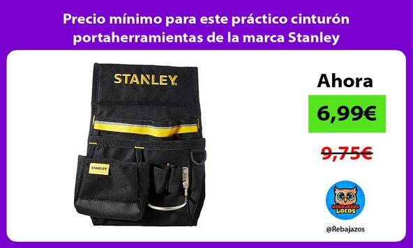 Precio mínimo para este práctico cinturón portaherramientas de la marca Stanley