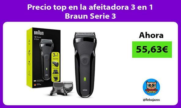 Precio top en la afeitadora 3 en 1 Braun Serie 3