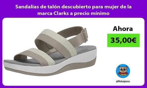 Sandalias de talón descubierto para mujer de la marca Clarks a precio mínimo