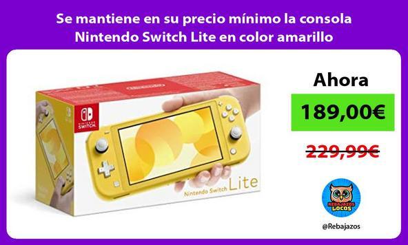 Se mantiene en su precio mínimo la consola Nintendo Switch Lite en color amarillo