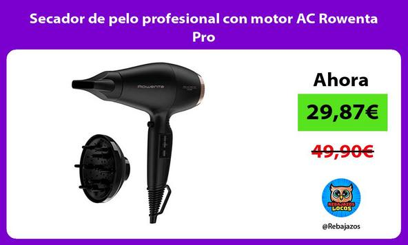 Secador de pelo profesional con motor AC Rowenta Pro