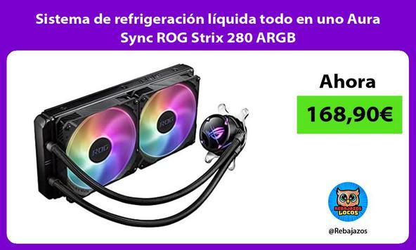 Sistema de refrigeración líquida todo en uno Aura Sync ROG Strix 280 ARGB