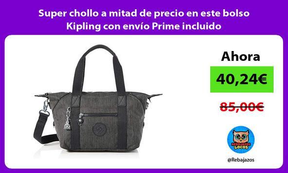 Super chollo a mitad de precio en este bolso Kipling con envío Prime incluido