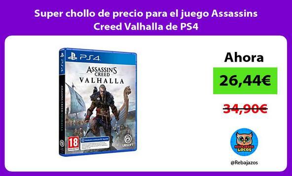 Super chollo de precio para el juego Assassins Creed Valhalla de PS4
