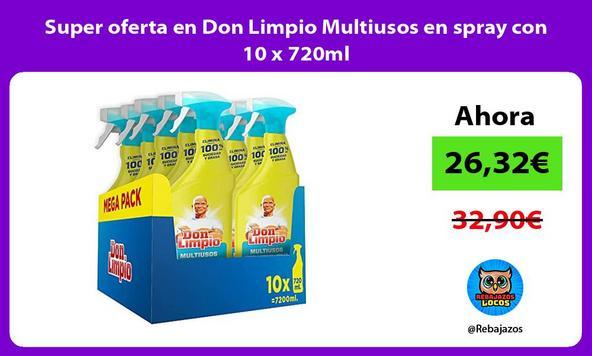Super oferta en Don Limpio Multiusos en spray con 10 x 720ml