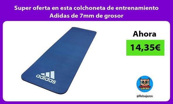 Super oferta en esta colchoneta de entrenamiento Adidas de 7mm de grosor