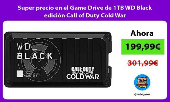 Super precio en el Game Drive de 1TB WD Black edición Call of Duty Cold War
