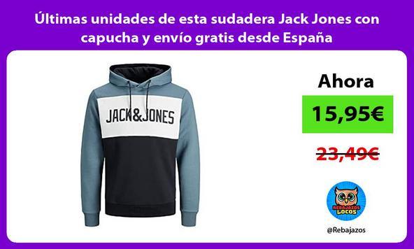 Últimas unidades de esta sudadera Jack Jones con capucha y envío gratis desde España