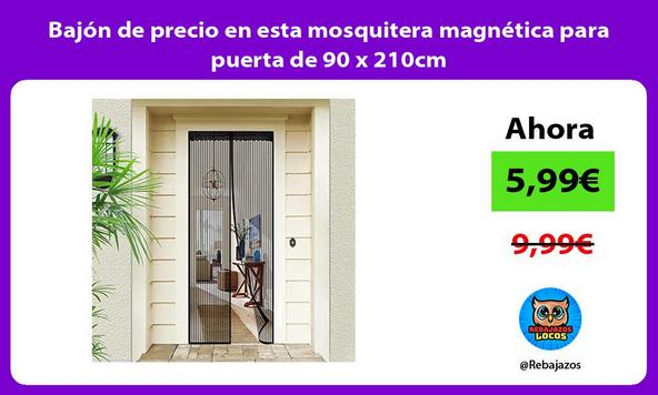 Bajón de precio en esta mosquitera magnética para puerta de 90 x 210cm