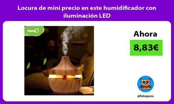Locura de mini precio en este humidificador con iluminación LED