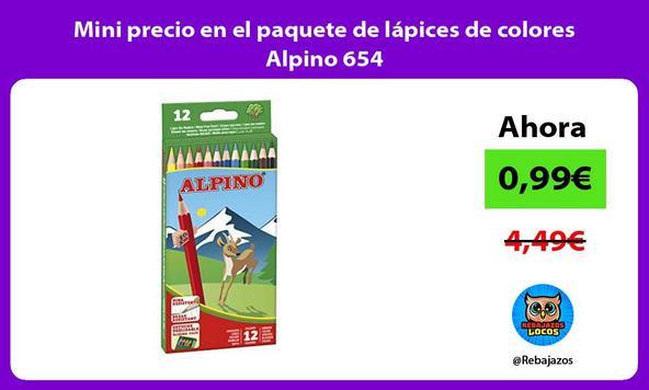Mini precio en el paquete de lápices de colores Alpino 654