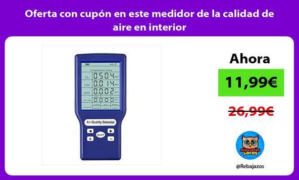Oferta con cupón en este medidor de la calidad de aire en interior