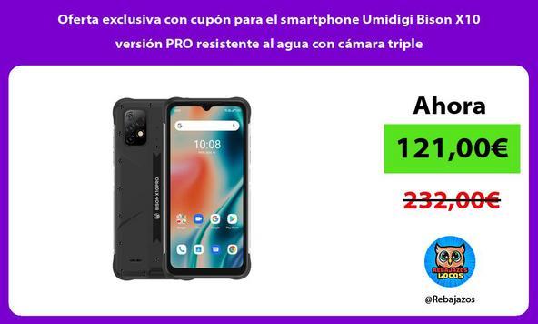 Oferta exclusiva con cupón para el smartphone Umidigi Bison X10 versión PRO resistente al agua con cámara triple