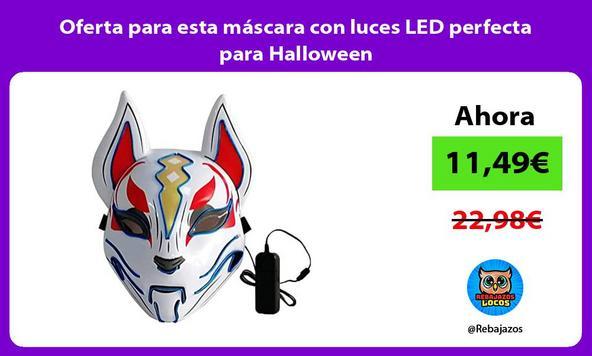 Oferta para esta máscara con luces LED perfecta para Halloween