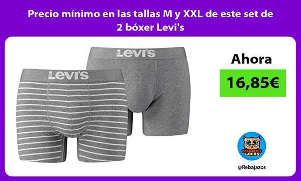 Precio mínimo en las tallas M y XXL de este set de 2 bóxer Levi's
