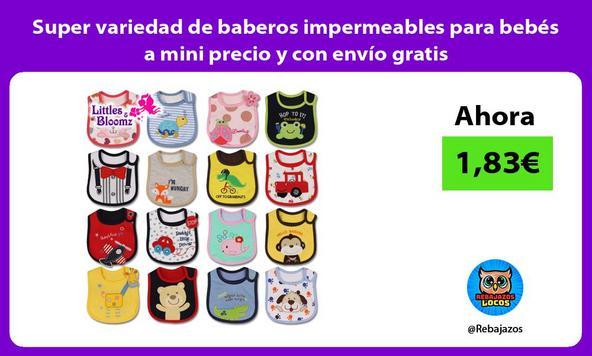 Super variedad de baberos impermeables para bebés a mini precio y con envío gratis